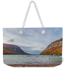 Lake Willoughby Blustery Fall Day Weekender Tote Bag by Tim Kirchoff