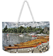 Weekender Tote Bag featuring the photograph Lake Windamere by Walt Foegelle