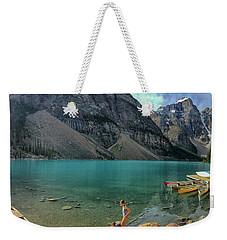 Lake With Kayaks Weekender Tote Bag