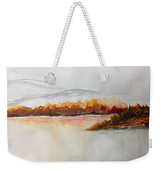 Lakeside Bushes - Fall Weekender Tote Bag