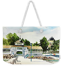 Lakeside Dock And Pavilion Weekender Tote Bag