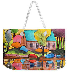 Lakeside Dream House Weekender Tote Bag
