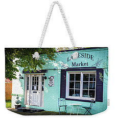 Weekender Tote Bag featuring the photograph Lakeside Market by Doug Camara