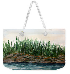 Lakeside No. 1 Lake Of The Woods Weekender Tote Bag