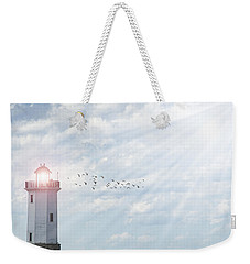 Weekender Tote Bag featuring the photograph Lakeside Park Lighthouse by Joel Witmeyer