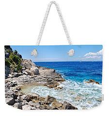 Lakka Coastline On Paxos Weekender Tote Bag