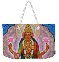 Weekender Tote Bag featuring the painting Lakshmi Blessing by Sue Halstenberg