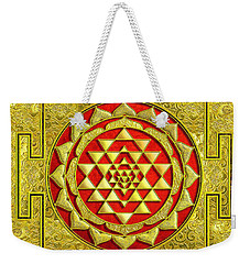 Lakshmi Kubera Yantra Weekender Tote Bag by Ragunath Venkatraman