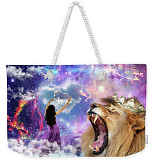 Weekender Tote Bag featuring the digital art Lamb Of God by Dolores Develde