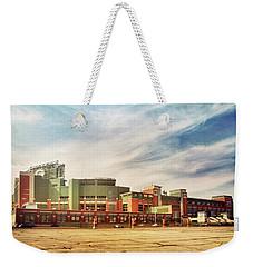 Weekender Tote Bag featuring the photograph Lambeau Field Retro Feel by Joel Witmeyer
