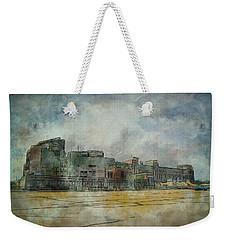 Weekender Tote Bag featuring the photograph Lambeau Field Watercolor by Joel Witmeyer