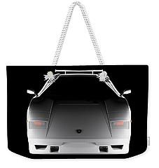 Lamborghini Countach 5000 Qv 25th Anniversary - Front View  Weekender Tote Bag