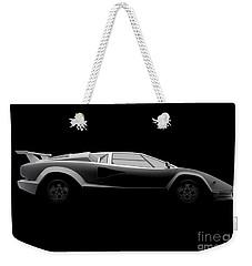 Lamborghini Countach 5000 Qv 25th Anniversary - Side View Weekender Tote Bag