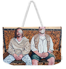 Weekender Tote Bag featuring the painting Lament For Donny by Tom Roderick
