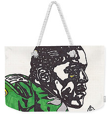 Weekender Tote Bag featuring the drawing Lamicheal James 2 by Jeremiah Colley