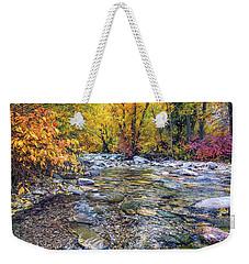 Lamoille Creek In Fall 2329 Weekender Tote Bag