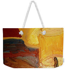 Weekender Tote Bag featuring the painting Lamps In Color by Shea Holliman