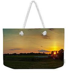 Lancaster Farm Sunset Panorama Weekender Tote Bag