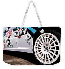 Lancia Delta Hf Integrale Weekender Tote Bag by Cesare Bargiggia