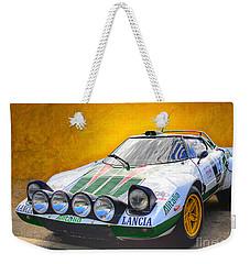 Lancia Stratos Weekender Tote Bag