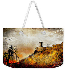 Weekender Tote Bag featuring the photograph Land Of Forgotten Kingdoms by Kathy Baccari