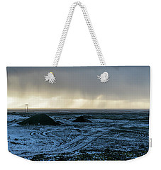 Weekender Tote Bag featuring the photograph land of Lava by Dubi Roman