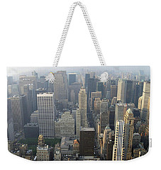 Land Of Skyscapers Weekender Tote Bag by Aaron Martens