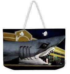 Land Shark At The Beach Towel Shop Weekender Tote Bag