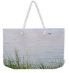 Weekender Tote Bag featuring the photograph Land To Sea by Deborah  Crew-Johnson