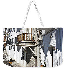 Weekender Tote Bag featuring the photograph Street In Capileira Puebla Blanca by Heiko Koehrer-Wagner