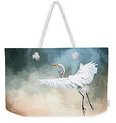 Landing At Dawn Weekender Tote Bag by Cyndy Doty