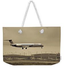 Landing At Dfw Airport Weekender Tote Bag by Douglas Barnard