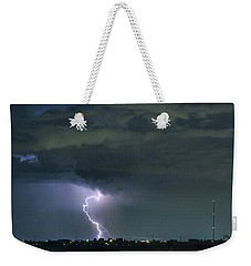 Weekender Tote Bag featuring the photograph Landing In A Storm by James BO Insogna