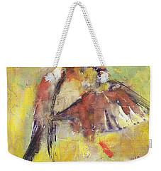 Landing On The Rainbow Weekender Tote Bag by Vali Irina Ciobanu