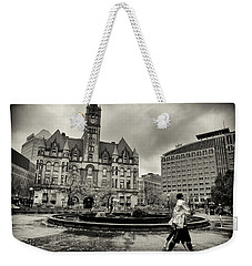 Landmark Center And Rice Park Weekender Tote Bag by Susan Stone