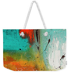 Weekender Tote Bag featuring the painting Landmarks by Carmen Guedez