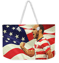 Landon Donovan Weekender Tote Bag by Taylan Apukovska