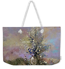 Weekender Tote Bag featuring the painting Landscape . I Was Lucky Today. by Anastasija Kraineva