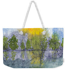 Landscape Reflection Abstraction On Masa Paper Weekender Tote Bag