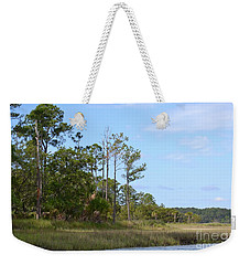Weekender Tote Bag featuring the photograph Landscape And Blue Sky by Carol  Bradley