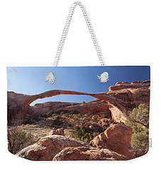 Weekender Tote Bag featuring the photograph Landscape Arch by Alan Vance Ley