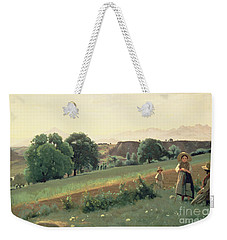 Landscape At Mornex Weekender Tote Bag by Jean Baptiste Corot