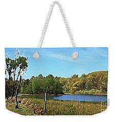 Landscape, Countryside In The Netherlands, Lakes, Meadows, Trees Weekender Tote Bag