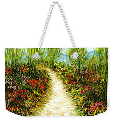 Weekender Tote Bag featuring the painting Landscape by Harsh Malik