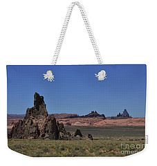 Weekender Tote Bag featuring the photograph Landscape In New Mexico by Debby Pueschel