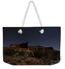 Weekender Tote Bag featuring the photograph Landscape In The Moonlight by Melany Sarafis