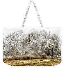Landscape In Winter Weekender Tote Bag
