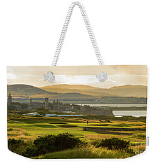 Landscape Of St Andrews Home Of Golf Weekender Tote Bag by MaryJane Armstrong