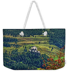 Weekender Tote Bag featuring the photograph Landscape With Castle by Hanny Heim