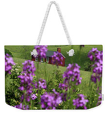 Landscape With Purple Flowers In Virginia Weekender Tote Bag